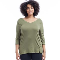 Plus Size Marika Curves Mesh Top