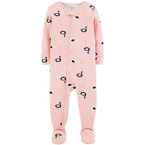 e0b27e86c5ee Toddler Girl Carter s Swan Footed Pajamas