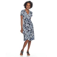 Women's Croft & Barrow® Surplice Dress