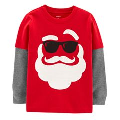 Baby Boy Carter's Santa in Sunglasses Mock Layer Tee
