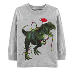 Baby Boy Carter's Holiday T-Rex Dinosaur Graphic Tee