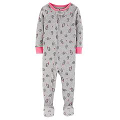 Toddler Girl Carter's Hedgehog Footed Pajamas