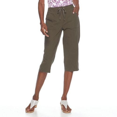 "NEW Women/'s Croft /& Barrow Novelty Shorts Comfort Waist Mid Rise 5/"" inseam"