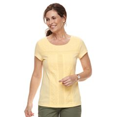 Women's Croft & Barrow® Eyelet Tee