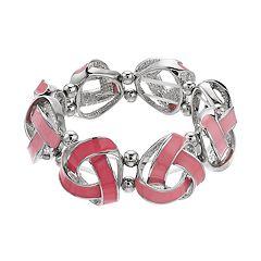 Pink Knot Stretch Bracelet