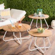 Safavieh Indoor / Outdoor Round Coffee Table 3-piece Set