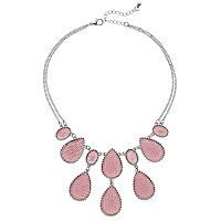 Pink Teardrop Necklace