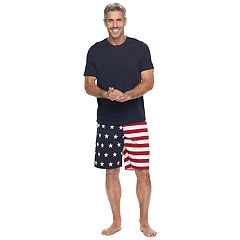 Men's Croft & Barrow® True Comfort Solid Tee & Printed Knit Shorts Sleep Set
