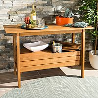 Safavieh Indoor / Outdoor Storage Bar Table