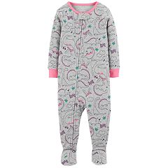 Baby Girl Carter's Dinosaur Footed Pajamas