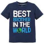 "Toddler Boy Carter's ""Best Brother In The World"" Graphic Tee"