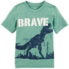 Toddler Boy Carter's 'Brave' Dinosaur Slubbed Graphic Tee