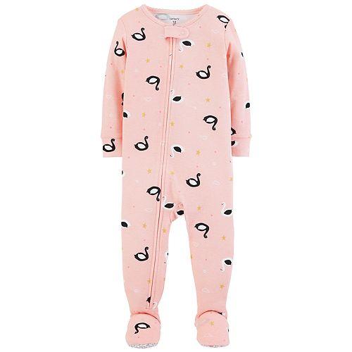 ef3af4c13 Baby Girl Carter s Swan Footed Pajamas
