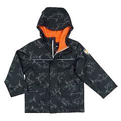 Boys 4-7 OshKosh B'gosh® Shark Print Midweight Rain Jacket