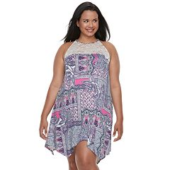 Plus Size Apt. 9® Lace High Neck Printed Chemise