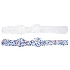 Baby Girl Carter's 2-pack Eyelet & Floral Bow Headwraps