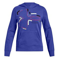 Girls 7-16 Under Armour Rival Deconstructed Logo Hoodie