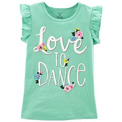 Girls 4-14 Carter's 'Love to Dance' Flower Graphic Tee