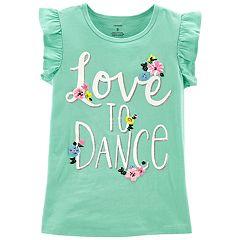 Girls 4-14 Carter's 'Love to Dance' Flower Graphic Tee