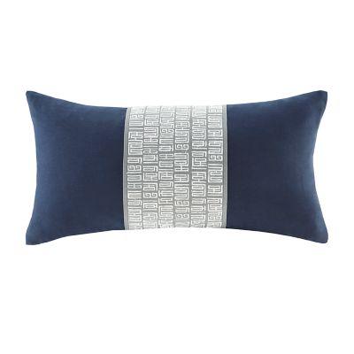 N Natori Nara Embroidered Oblong Throw Pillow
