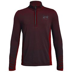 Boys 8-20 Under Armour Seamless Quarter-Zip Top