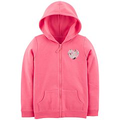 Girls 4-14 Girl Carter's Sequin Fleece Hoodie