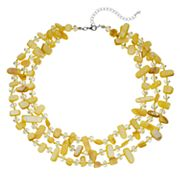 Yellow Bead Collar Necklace