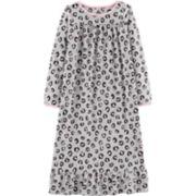 Girls 4-14 Carter's Cheetah Print Fleece Nightgown