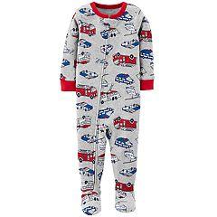 Baby Boy Carter's Fireman, Police Car & Ambulance Footed Pajamas