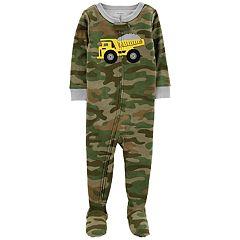 Baby Boy Carter's Dump Truck Camo Footed Pajamas