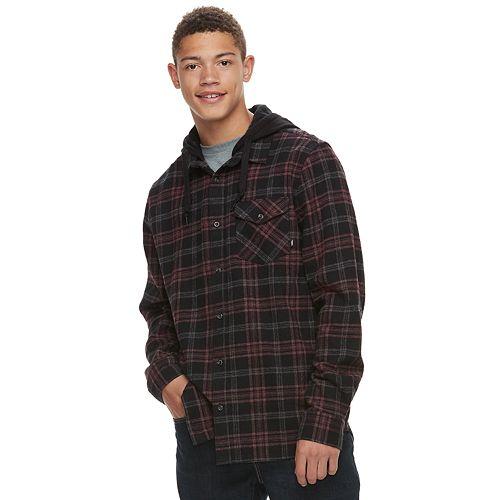 Men's Vans Hooded Button-Down Shirt