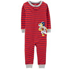 Baby Boy Carter's Striped Football Lion Coveralls
