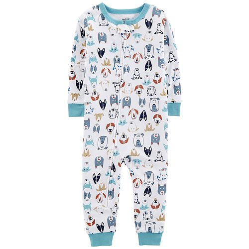Baby Boy Carter's Dog Print Coverall