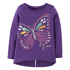 Girls 4-14 Carter's 'Be Free' Butterfly Split Back Graphic Tee