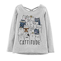 Girls 4-14 Carter's 'Cattitude' Graphic Tee