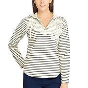 Women's Chaps Striped Lace Sweatshirt