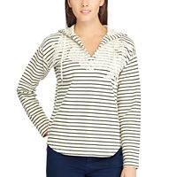 Women's Chaps Striped Lace Sweatshirt