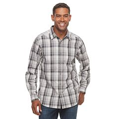 Big & Tall Columbia Hardy Ridge Plaid Stretch Button-Down Shirt