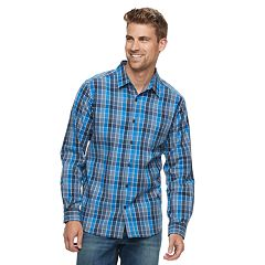 Big & Tall Columbia Hardy Ridge Plaid Stretch Button-Down Shirt