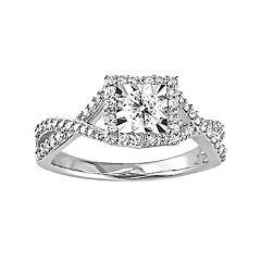 Stella Grace Sterling Silver 1/2 Carat T.W. Diamond Crisscross Ring