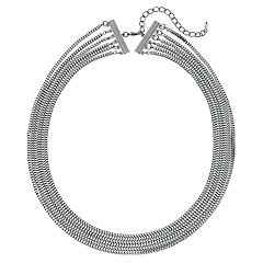Multistrand Snake Chain Necklace