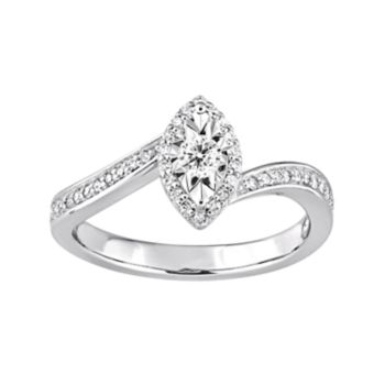 Stella Grace Sterling Silver 1/4 Carat T.W. Diamond Marquise Ring