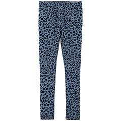 Girls 4-14 Carter's Blue Leopard Print Leggings