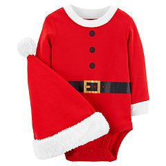 Baby Carter's Santa Bodysuit & Hat Set