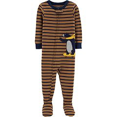 Baby Boy Carter's Skateboard Bear Striped Footed Pajamas