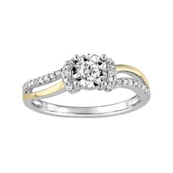 Stella Grace Two Tone Sterling Silver 1/5 Carat T.W. Diamond Ring