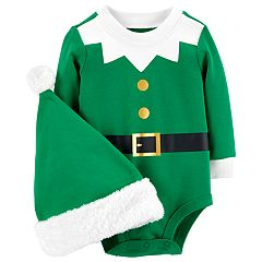 Baby Carter's Elf Bodysuit & Hat Set