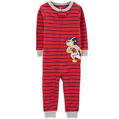 Toddler Boy Carter's Striped Football Lion Coveralls