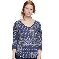 Women's SONOMA Goods for Life™ Drop Sleeve V-Neck Sweatshirt