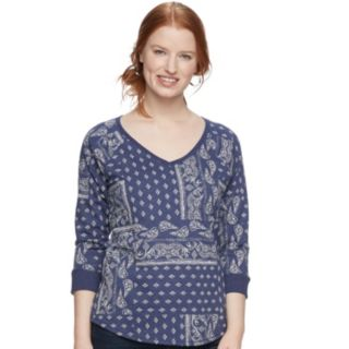 Women's SONOMA Goods for Life? Drop Sleeve V-Neck Sweatshirt